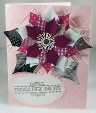 SPRING POINSETTIAS Handmade Thank You,Get Well Stampin' UP!/MFT Card Kit 4
