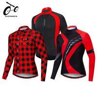 Men's Jersey long sleeve Cycling Jerseys Grid Tops Bike Jerseys Wear MTB Shirts