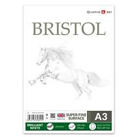 A3 200gsm BRISTOL Board Sketch Pad White Drawing Artist Paper GUMMED Book