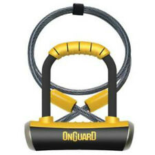 Onguard Pitbull Mini 8008 Shackle D U Bike Bicycle Lock & Coil Cable Gold Rated
