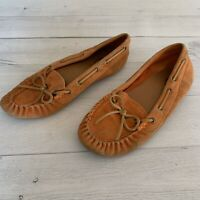 Women's Lucky Brand Leather Moccasins Slip On Driving Shoe Sz 10 Abelle2