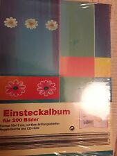 Einsteck-Fotoalbum für 200 Bilder in 10x15cm mit Negativtasche und CD-Hülle