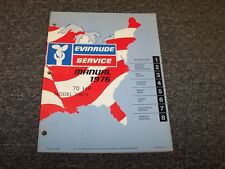 1976 Evinrude 70 HP Outboard Motor Shop Service Repair Manual Guide Book