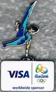 2016 Rio VISA Olympic Gymnastics Games Mark Sponsor Sports Pin 2022 Paris Trader
