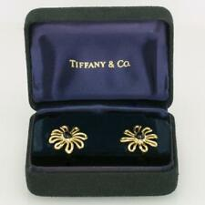 Onyx Daisy Flower Rare Vintage Earrings Paloma Picasso 18ct Gold Tiffany & Co.