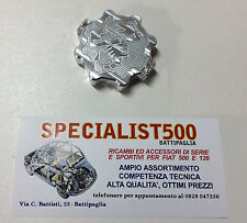 FIAT 500 F/L/R 126 TAPPO COPERCHIO SPINTEROGENO ALLUMINIO LOGO SCORPIONE ABARTH