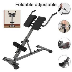 Home Fitness Workout Roman Chair Hyperextension Back Extension Bench Foldable