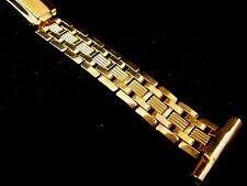 Vintage NOS Mens unused Speidel watch band bracelet 10k yellow GF 19mm 3/4 inch