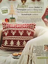 KNITTING PATTERN Reindeer Christmas Cushion Fair Isle Norwegian Tree Rowan
