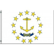 Rhode Island State flag Banner Sign 3' x 5 Foot Polyester With grommets Hope