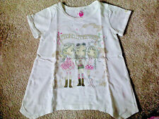 Girls 'Friends at Festival' Print Top (6 Years) Very Good Condition