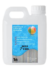 1KG / 2KG / 5KG Stabilised  Chlorine Granules For Hot Tubs & Spas