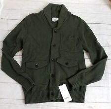 XXL Mens Knit Cardigan Sweater Green Button Long Sleeve Pockets Goodfellow New