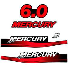 Mercury 6.0 outboard (1999-2004) decal aufkleber adesivo sticker set