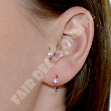 5 AB Crystal Flower Thin Diamante Cartilage Earring,Tragus Nose Hoop Helix Ring