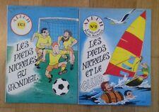 LES PIEDS NICKELÉS albums 1 : AU MONDIAL et 2 : ET LE CLUB  - 1982 - TTBE