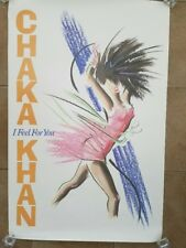 """Chaka Kahn Rare """"I Feel For You"""" Promotional  Sales Poster"""