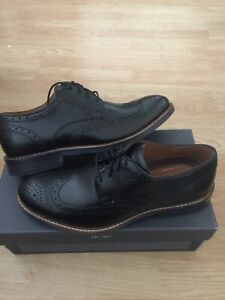 Rockport Brogues Kenton Wingtip Black Leather UK Size 8 (EUR 42)BNIB Just £34.99
