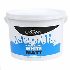 Crown Matt Emulsion Pure Brilliant White Wall & Ceiling Paint 7.5L