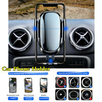 """Car Phone Holder Metal Gravity Round Air Vent Support Stand For 4.8-6.5"""" Mobile"""