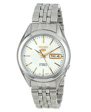 Seiko 5 SNKL17 Automatic Day-Date White Dial Stainless Steel Mens Watch SNKL17K1