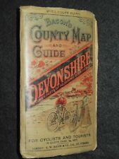Bacon's County Map & Guide to Devonshire (c1905) For Cyclists & Tourists, Devon
