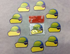 NEW SALE PRICE TAGS WAS-NOW Yellow Blue Promotion Offer Retail Display Tags x200