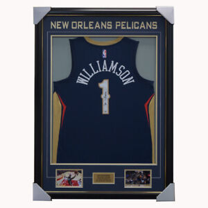 Zion Williamson Signed New Orleans Pelicans Jersey Framed Official Fanatics COA