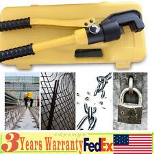8ton 4 16mm Hydraulic Rebar Cutter Allen Wrench Steel Bolt Chain Cutting Tool Us