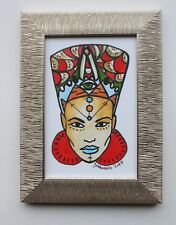 Nubian - Gobbolino 2017 Pen Ink Framed Tattoo Flash Art Illustration Drawing