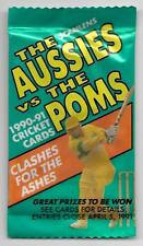 1990 - 91 Scanlens Cricket Cards Aussie Vs Poms - UNOPENED PACK (86 Available)