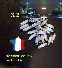 Ampoule COB LED led 12V voiture intérieur 31 ou 36  mm plafonnier
