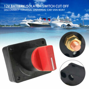 Mini Battery Isolator Master Switch On/Off Marine Auto 12V For Car Boat Van 100A