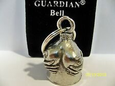 """Bikers! """"Getting a Handful"""" motorcycle gremlin pewter ride bell with felt pouch"""