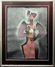 Byron Galvez Candle Dancer Custom Framed Art Acryligraph Signed MAKE OFFER