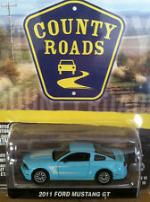 Greenlight COUNTY ROADS  2011 Ford Mustang GT   light blue