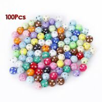Pack 100 Acrylic Plastic Beads stained with Strass Glitter 10mm A2Y8