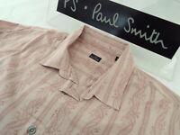 "PAUL SMITH Mens Shirt 🌍 Size L (CHEST 44"") 🌎 RRP £95+📮 STRIPED FLORAL PRINT"