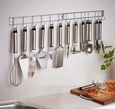 12 Piece Stainless Steel Kitchen Utensil & Gadget Set with Hanging Rack / Holder
