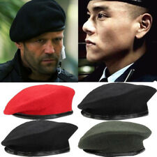 Unisex Military Army Soldier Hat Wool Beret Men Women Uniform Adjustable Cap