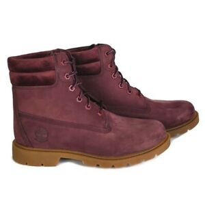 Timberland linden woods nubuck waterproof burgundy lace up boots Womens Size 6.5