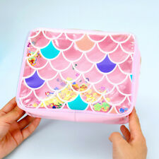 Travel Cosmetic Bag Mermaid Sequin Makeup Pouch Beauty Wash Organizer Coin Purse