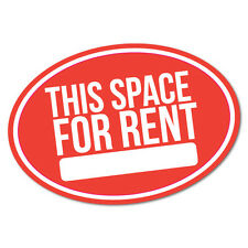This Space For Rent Car Parking Business Sticker Decal Shopfront Trading #6806EN