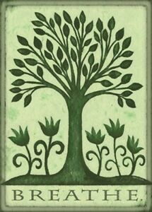 Toland Breathe 28 x 40 Decorative Green Tree of Life House Flag