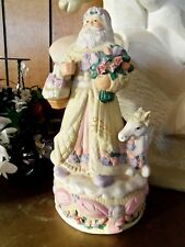 "Victorian Christmas Santa with  Horse Music Box 11"" ""Im Dreaming of a White Chr"""