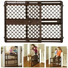 Safety Gate Position Lock Baby Dog Pet Security Pressure Mount Swing Doorway New