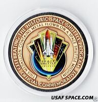 SPACE SHUTTLE COMMEMORATIVE NASA COIN-MEDALLION CONTAINING FLOWN SHUTTLE METAL
