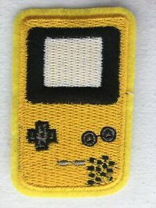 Iron-on / Sew-on Patch - Nintendo Game Boy Color - Dandelion Yellow 6.9 x 4.5cm