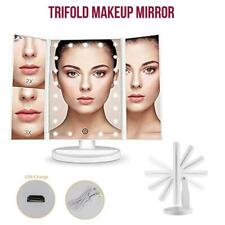 Makeup Mirror with Light Touch Screen Dimmable Lights up Vanity Cosmetic Trifold