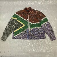 RRP £920 Y/PROJECT Bandana Patchwork African Flag Shirt Size XS